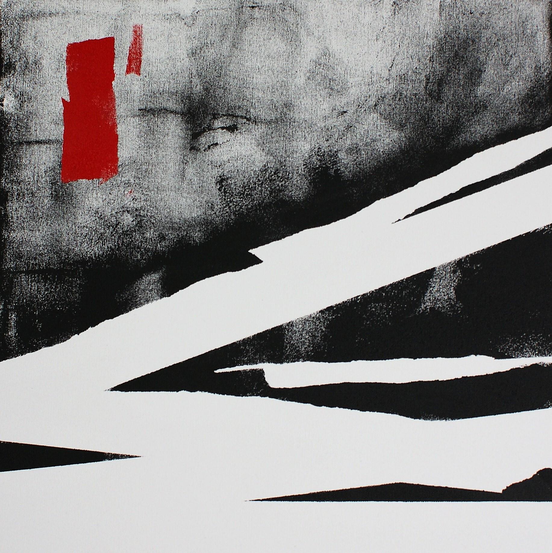 Bandage (acrylic & oil on canvas, 50x50cm) 2018 DBrewins-Cook