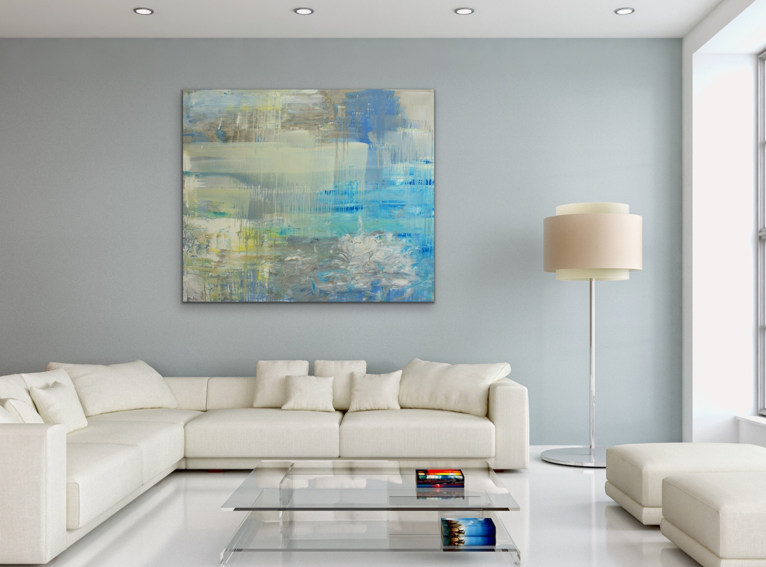 SOLD - Echoes of Summer, in a room