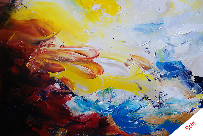SOLD - The sea calls 60x60 cm  by Donna Brewins-Cook Sold at Yorkshire Artspace Art Auction 2014