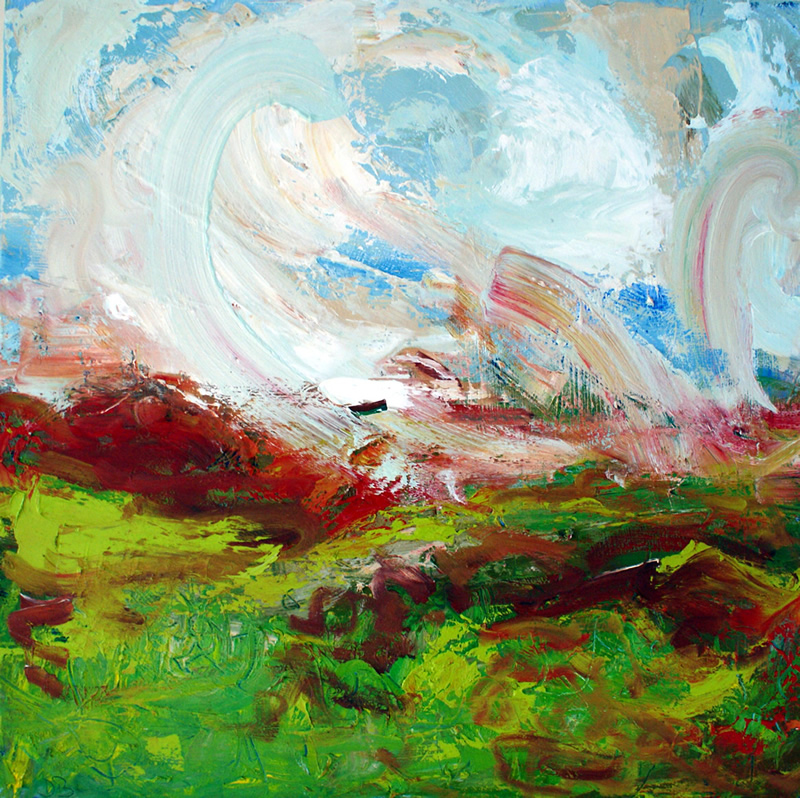 Towards York in the Autumn by Donna Brewins-Cook 71cm x 71cm