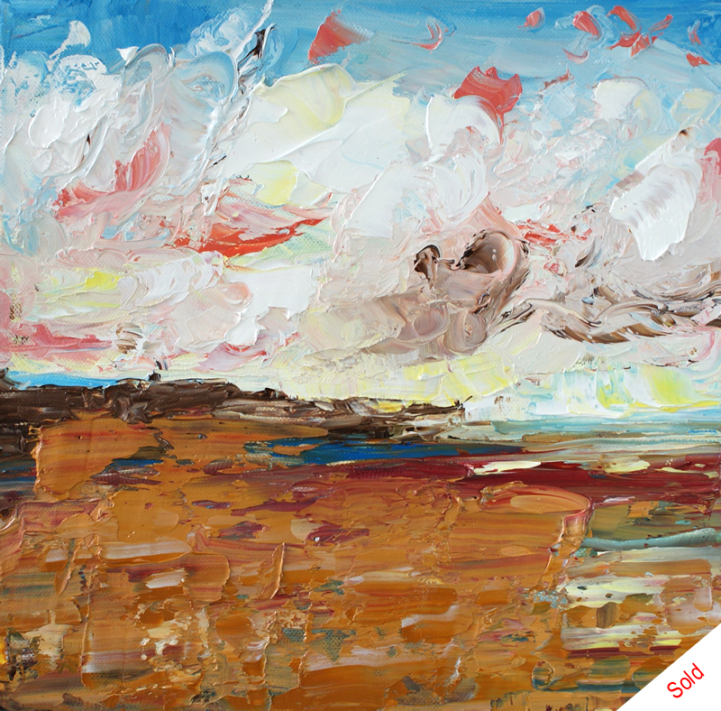 Morning Light Over the Bay (oil on canvas 30cm x 30cm) Donna Brewins-Cook SOLD Private Commission