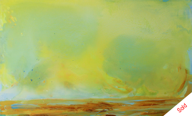 Birds in the big sky (50cmx80cm) acrylic on canvas Donna Brewins-Cook 2015