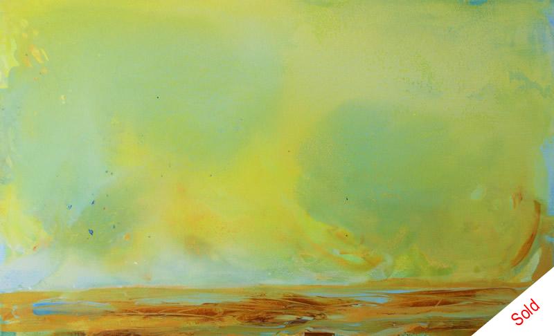 SOLD -  Birds in the big sky (50cmx80cm) acrylic on canvas Donna Brewins-Cook 2015