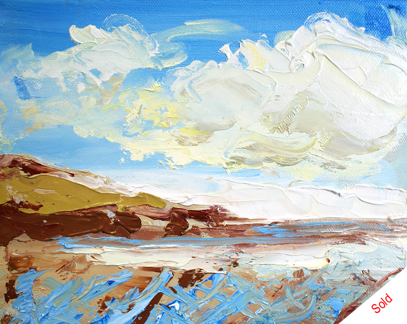 Sandsend No3 (20cm x 20cm) by Donna Brewins-Cook