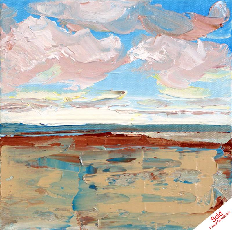 Sandsend No4 (20cm x 20cm) by Donna Brewins-Cook
