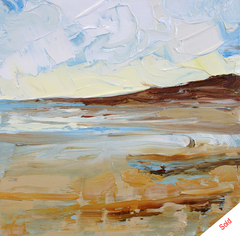 Sandsend No5 (20cm x 20cm) by Donna Brewins-Cook
