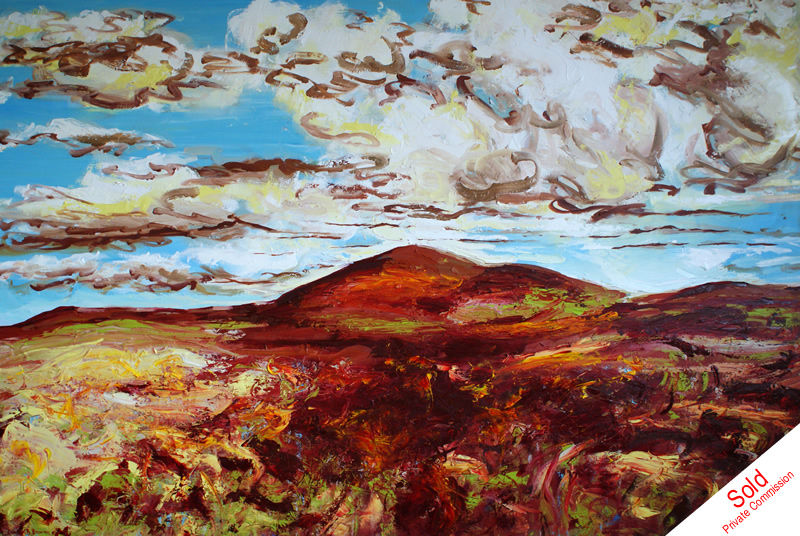 SOLD - Come wander with me (oil on canvas, 220cm x 150cm) Donna Brewins-Cook