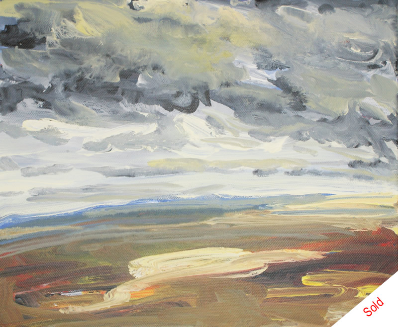 SOLD - Towards the A66 acrylic on canvas 30x20cm Donna Brewins-Cook