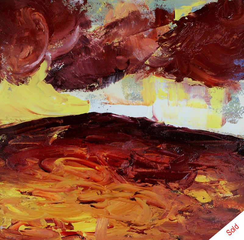 Light breaking through (oil on canvas 30cmx30cm) Donna Brewins-Cook 2015 SOLD