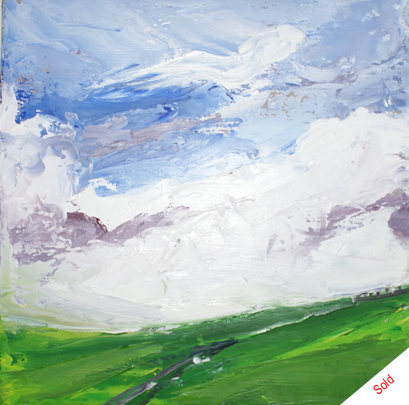 Wheatlands Lane oil on canvas Donna Brewins-Cook