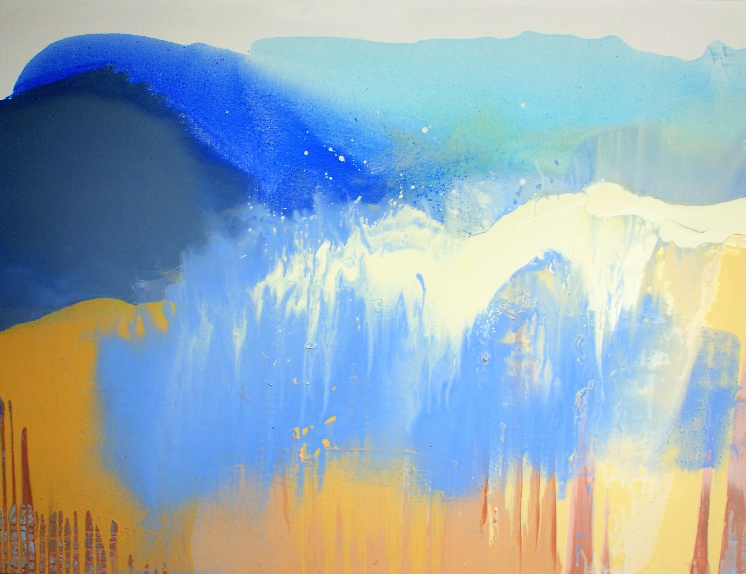 Incoming tide 2019, (oil on canvas, 122x91cm)