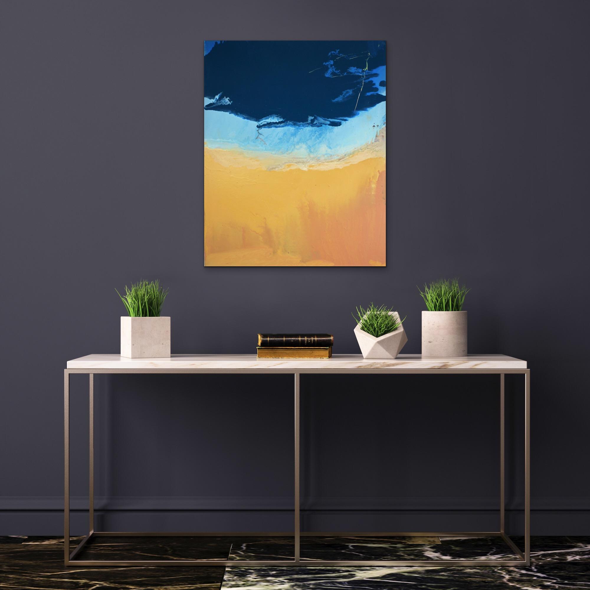 Mudflats and Saltmarsh, 2019 (oil on canvas)