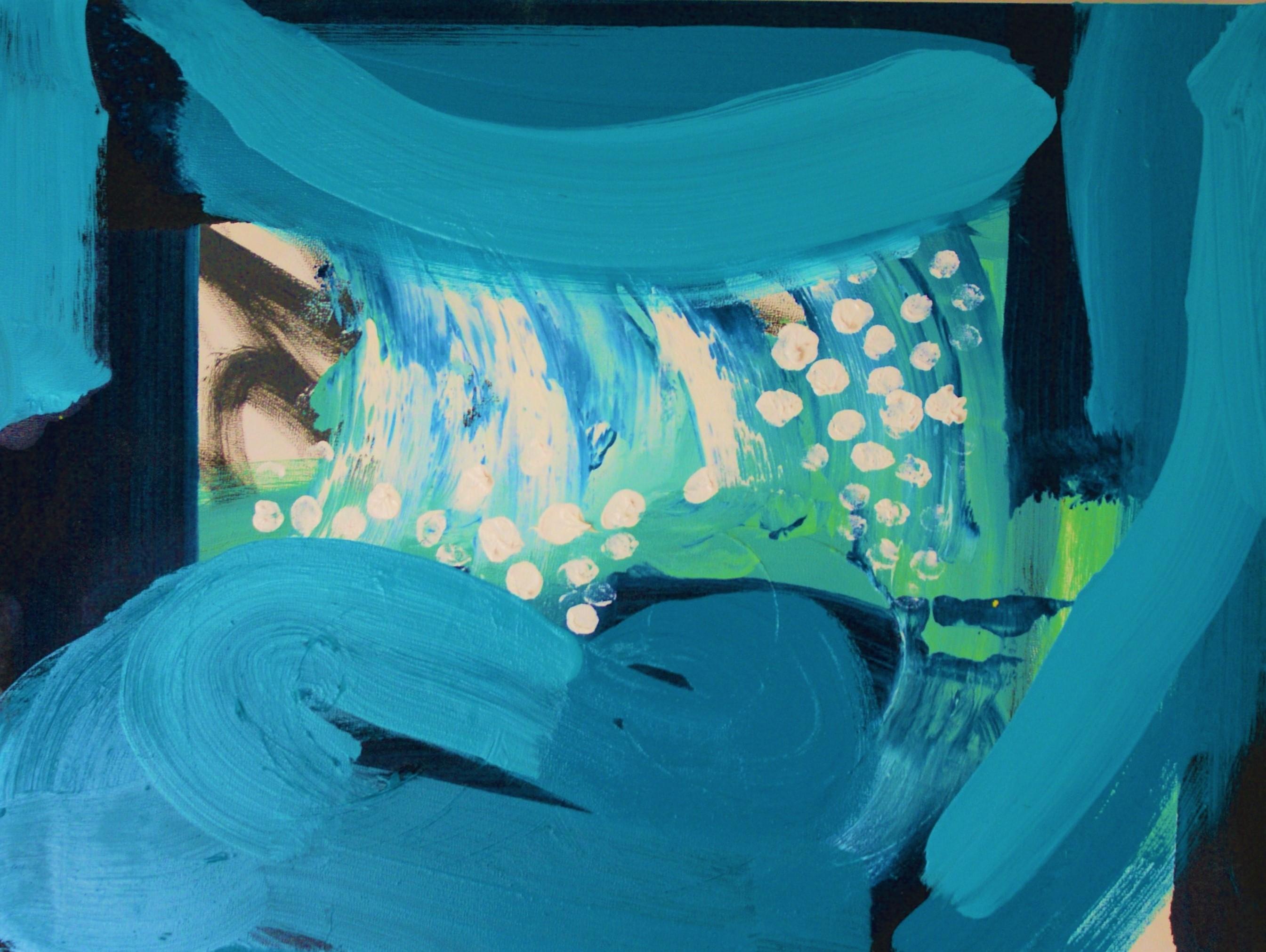 The sea outside our window - 2020, (oil on board, 30x40cm)