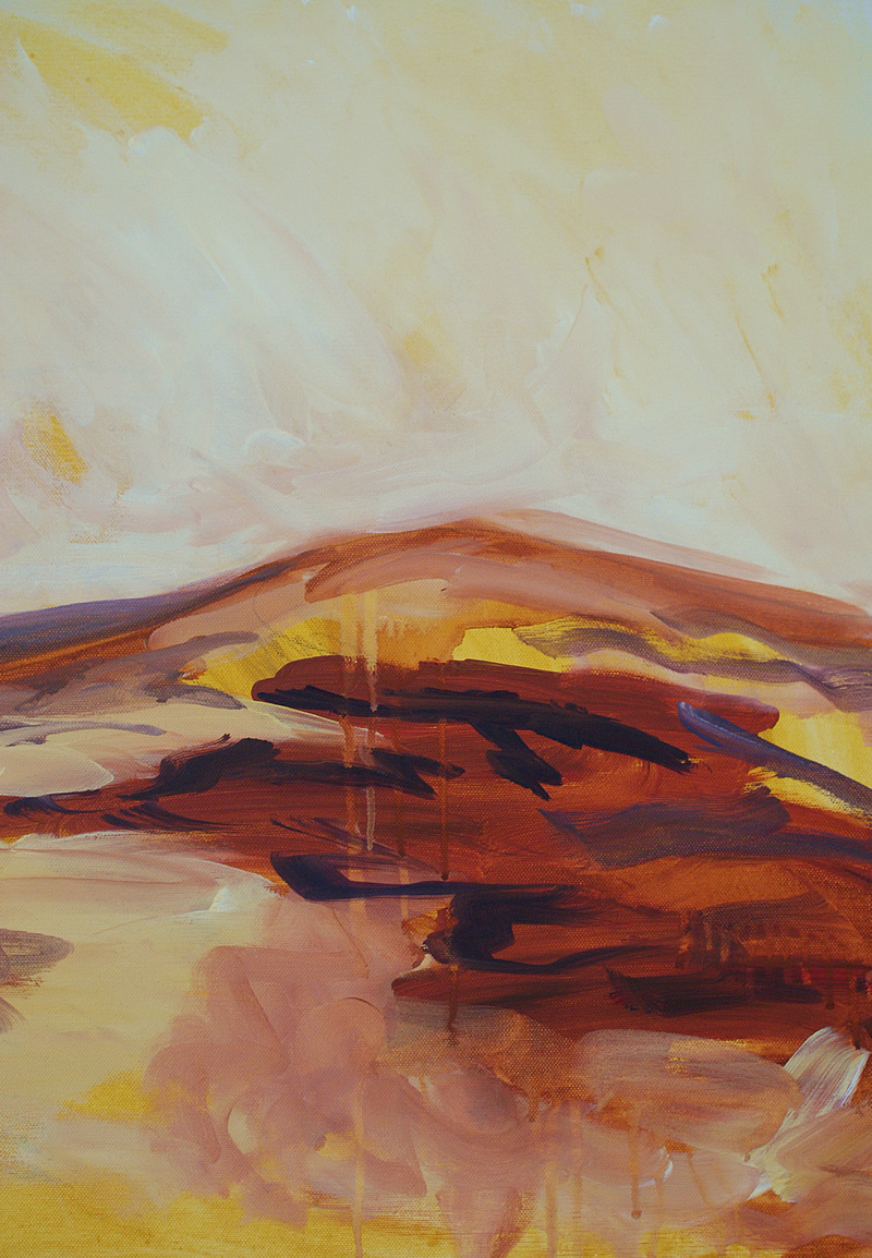 Moorland Study acrylic on canvas April 2013 D Brewins