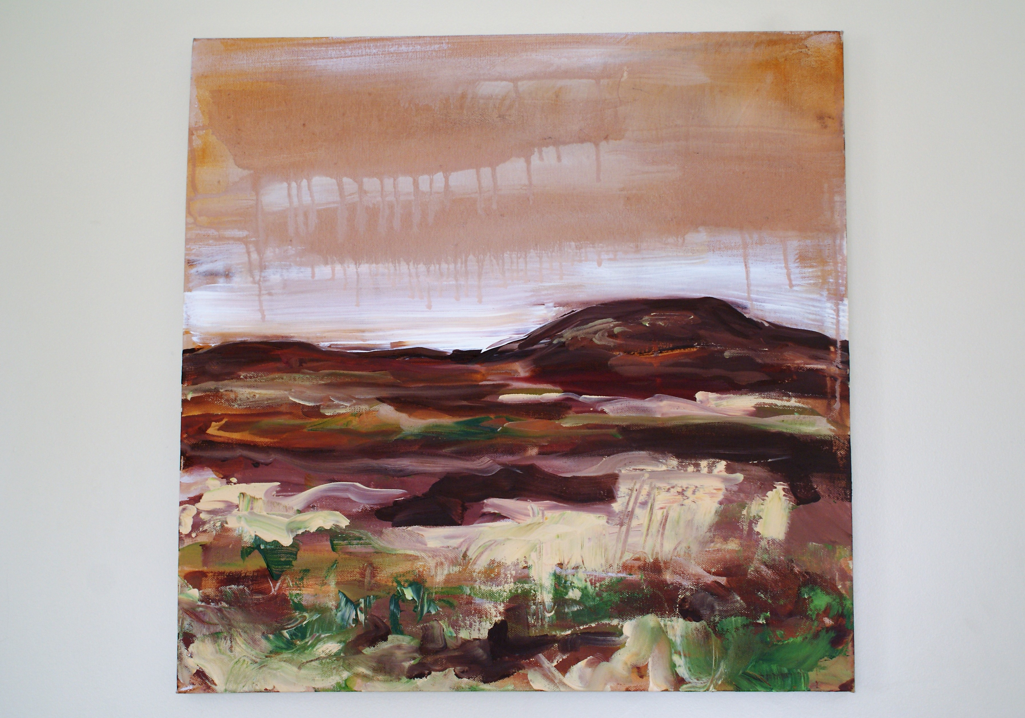 Outdoor study of moor on Rosedale acrylic on canvas May 2013 (2)