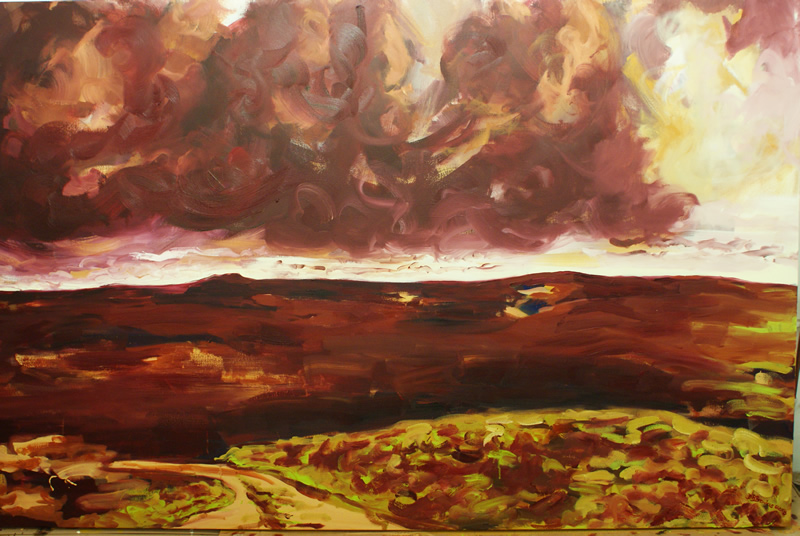 The Call Within (oil on canvas 240cm x 50cm) by Donna Brewins-Cook 2013 -Owned by Kae and Martin Walker