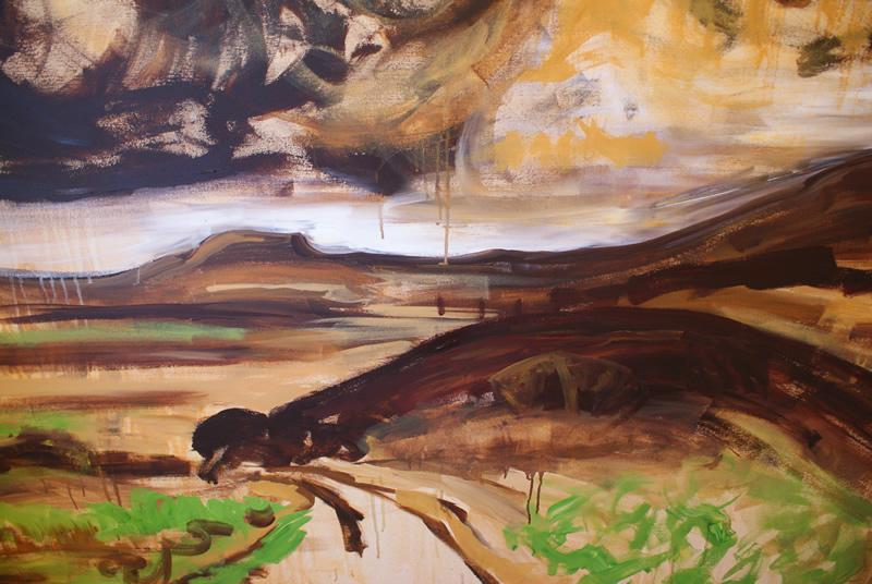 The Road from Hutton le Hole by Donna Brewins-Cook Detail