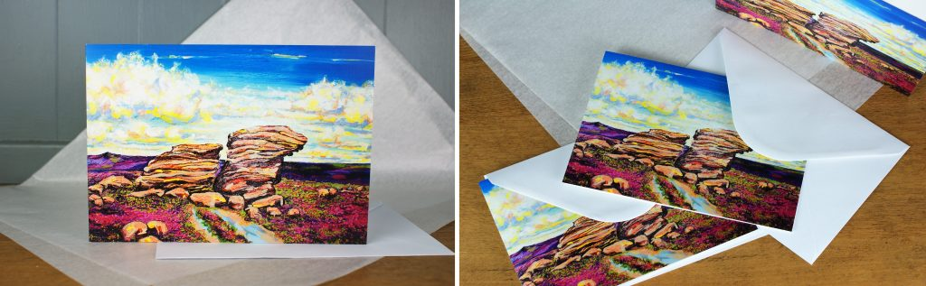 Hight Summer Ox-Stones Greeting cards