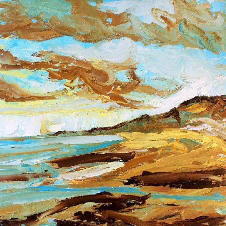 Sandsend-study-in-oils-2014